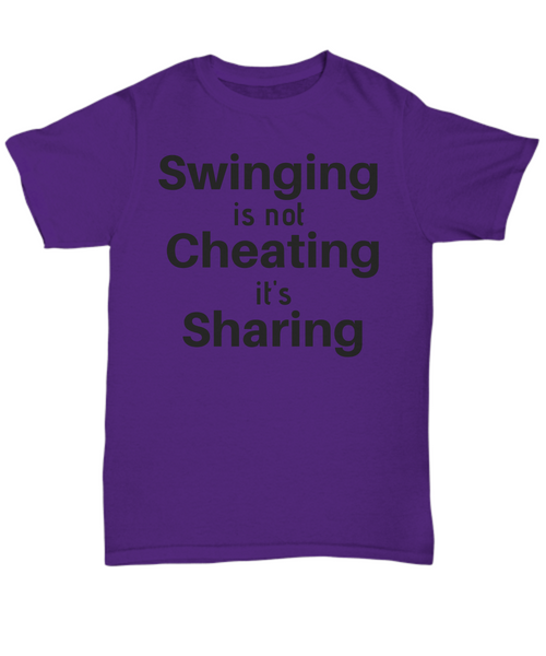 Swinging is not Cheating it's Sharing gift idea