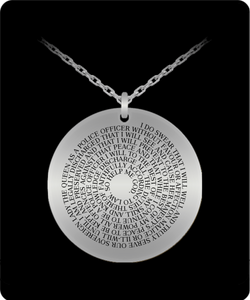 Oath of Office - Australian Police Stainless Steel Necklace