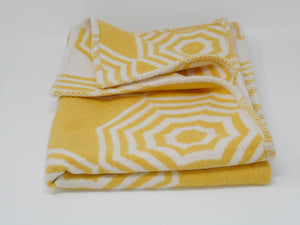 Yellow Parasol Baby Blanket