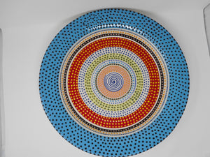 Large Multicoloured Plate