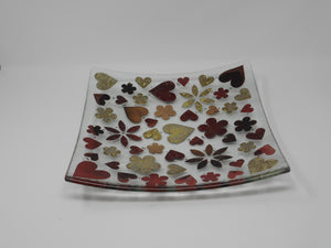 30cm Dish Hearts and Flowers