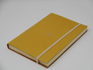 "A5 Leather ""Bee"" Journal (Gold & Gold)"