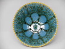Large Green/Blue Flower Bowl