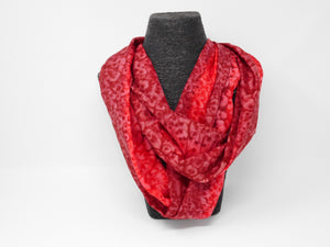 Silk Scarf  - magnetic clasp