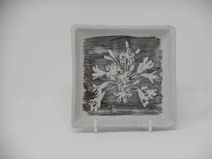 Slab Dish Small Square Agapanthus