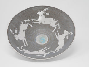 Bowl w/central well 26cm Hare