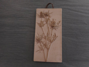 Botanical Art in Plaster - Rectangle