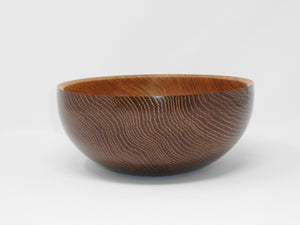 Black/copper oak bowl