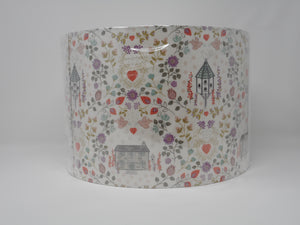 30cm Lamp Shade Floral Dovecote & Cottage