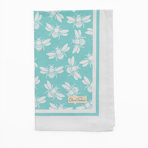 Bumble Bee Tea Towel in Blue