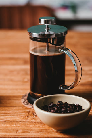 Clusters Coffee french press grind coffee beans