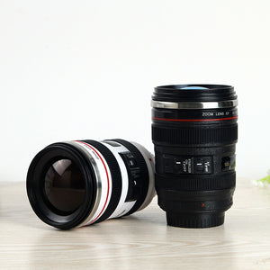 Camera Lens Shape Cup Coffee Tea Travel Mug Stainless Steel Vacuum Flasks worldwide store