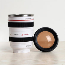 Load image into Gallery viewer, Camera Lens Shape Cup Coffee Tea Travel Mug Stainless Steel Vacuum Flasks worldwide store