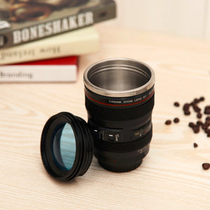 Super Awesome coffee mug/thermos that looks like a camera lens.