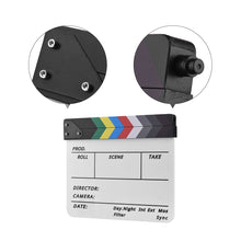 Load image into Gallery viewer, Film Shooting Accessory Director Video Acrylic Clapboard Dry Erase TV Movie Clapper Board Slate With Marker Pen Eraser 30*24.5cm