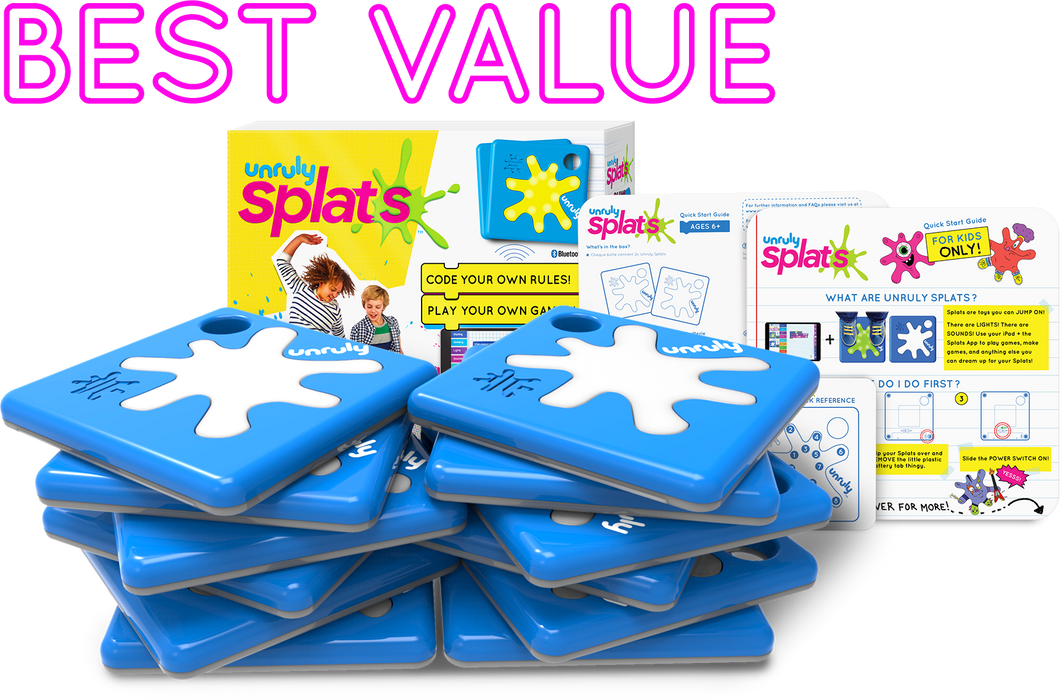 Unruly Splats Classroom Subscription Plan 12-Pack | Coding for Kids | Active STEM Learning