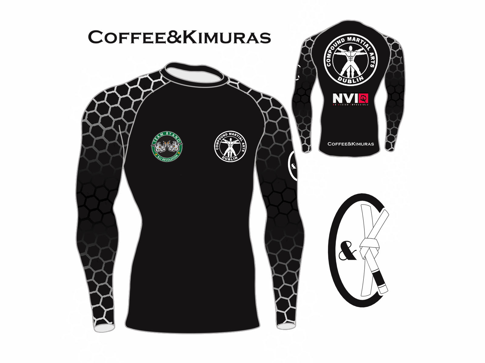 coffee and kimuras custom rashguard bjj jiu jitsu