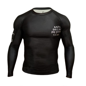 Anti Decaf Jiu Jitsu Club Long Sleeve Rashguard - Coffee&Kimuras Coffee And Kimuras BJJ Jiu Jitsu MMA Apparel