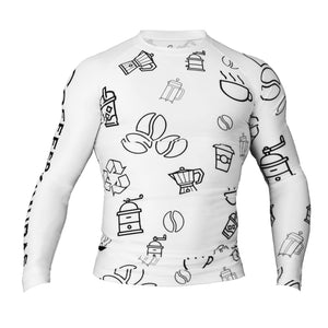 Doodle Long Sleeve Rashguard - Coffee&Kimuras Coffee And Kimuras BJJ Jiu Jitsu MMA Apparel