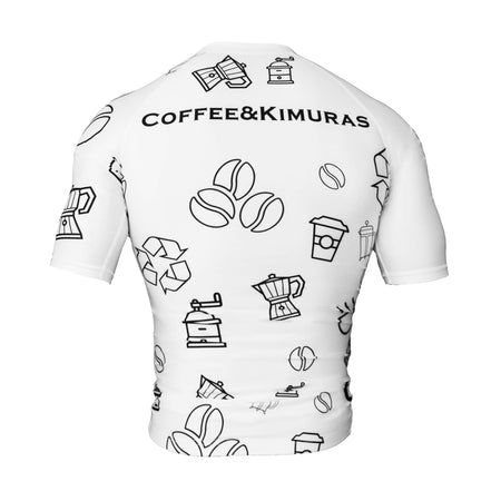 Doodle Short Sleeve Rashguard - Coffee&Kimuras Coffee And Kimuras BJJ Jiu Jitsu MMA Apparel