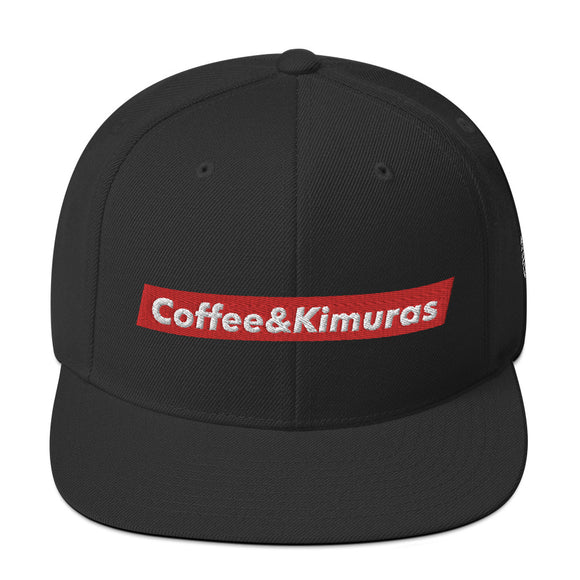 Red Box Snapback - Coffee&Kimuras Coffee And Kimuras BJJ Jiu Jitsu MMA Apparel