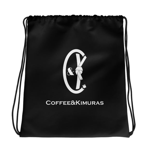 coffee kimuras bjj jiu jitsu mma drawstring gear bag
