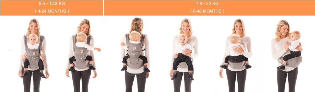 Hip Seat Carrier Position