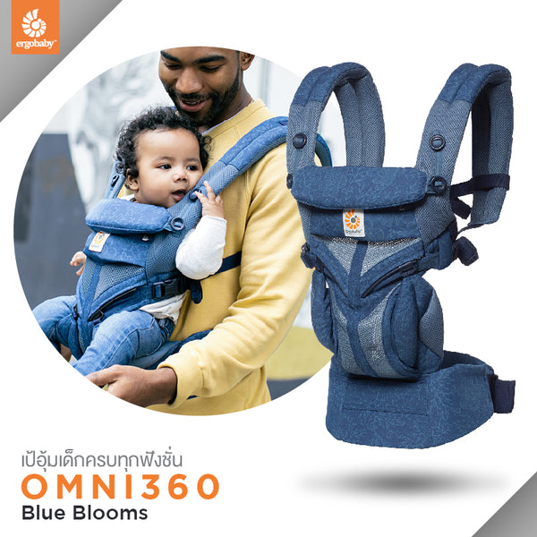 Omni 360 Cool Air Mesh : Blue Blooms