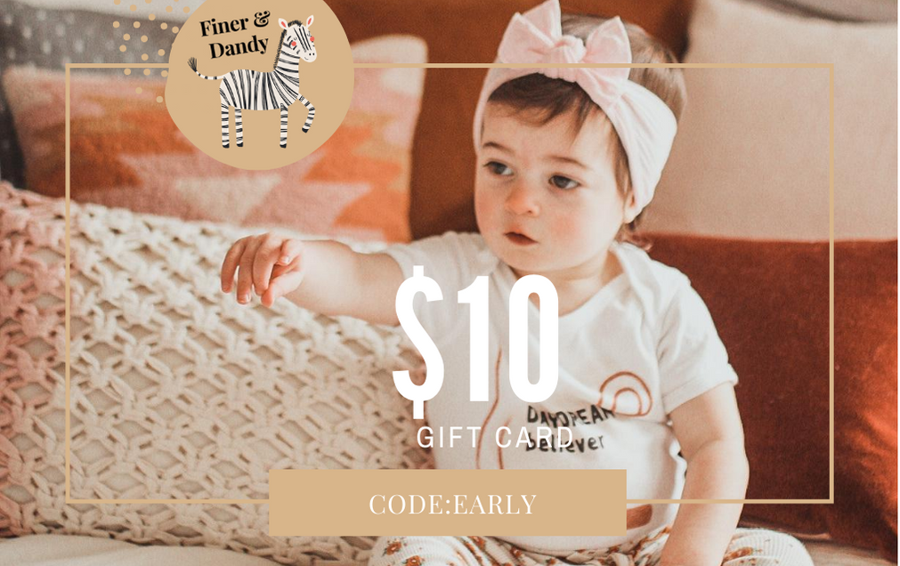$10 gift card to Finer and Dandy with code: EARLY