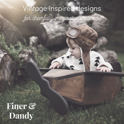 Vintage inspired children's wear by Finer and Dandy