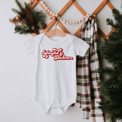 baby bodysuit onesie printed with the words splendid and diverse