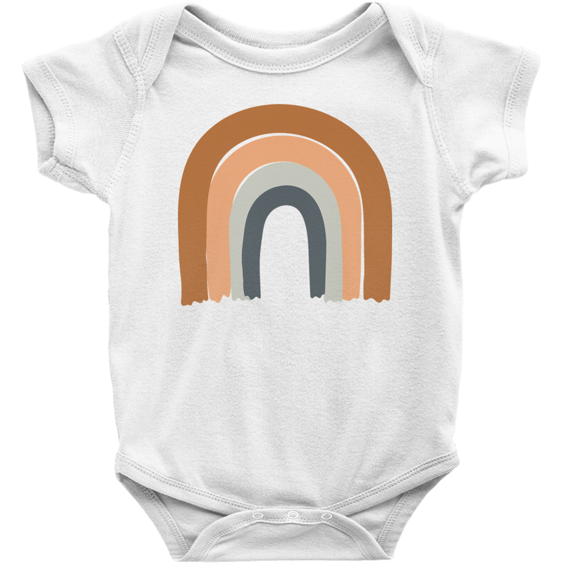Earth rainbow short sleeve bodysuit