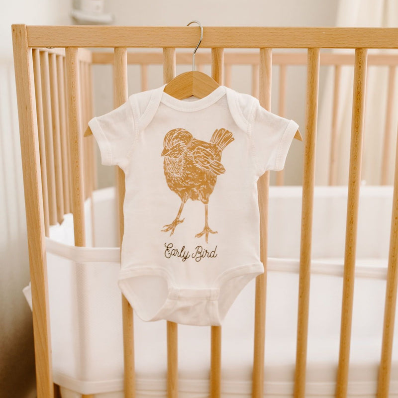 Early bird short sleeve bodysuit