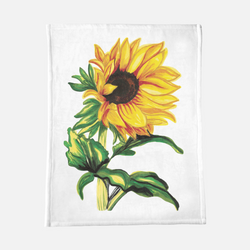 Sunflower minky blanket