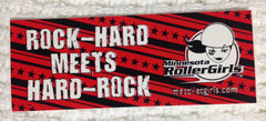 """Rock-Hard Meets Hard-Rock"" Sticker"