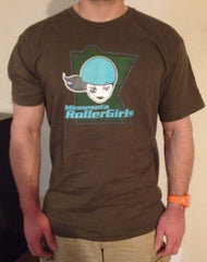 Unisex Minnesota RollerGirls All-Stars T-Shirt Aqua Color