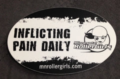 """Inflicting Pain Daily"" Sticker"