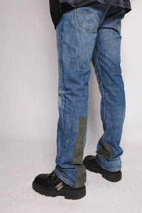 Jeans Denim Green Corduroy