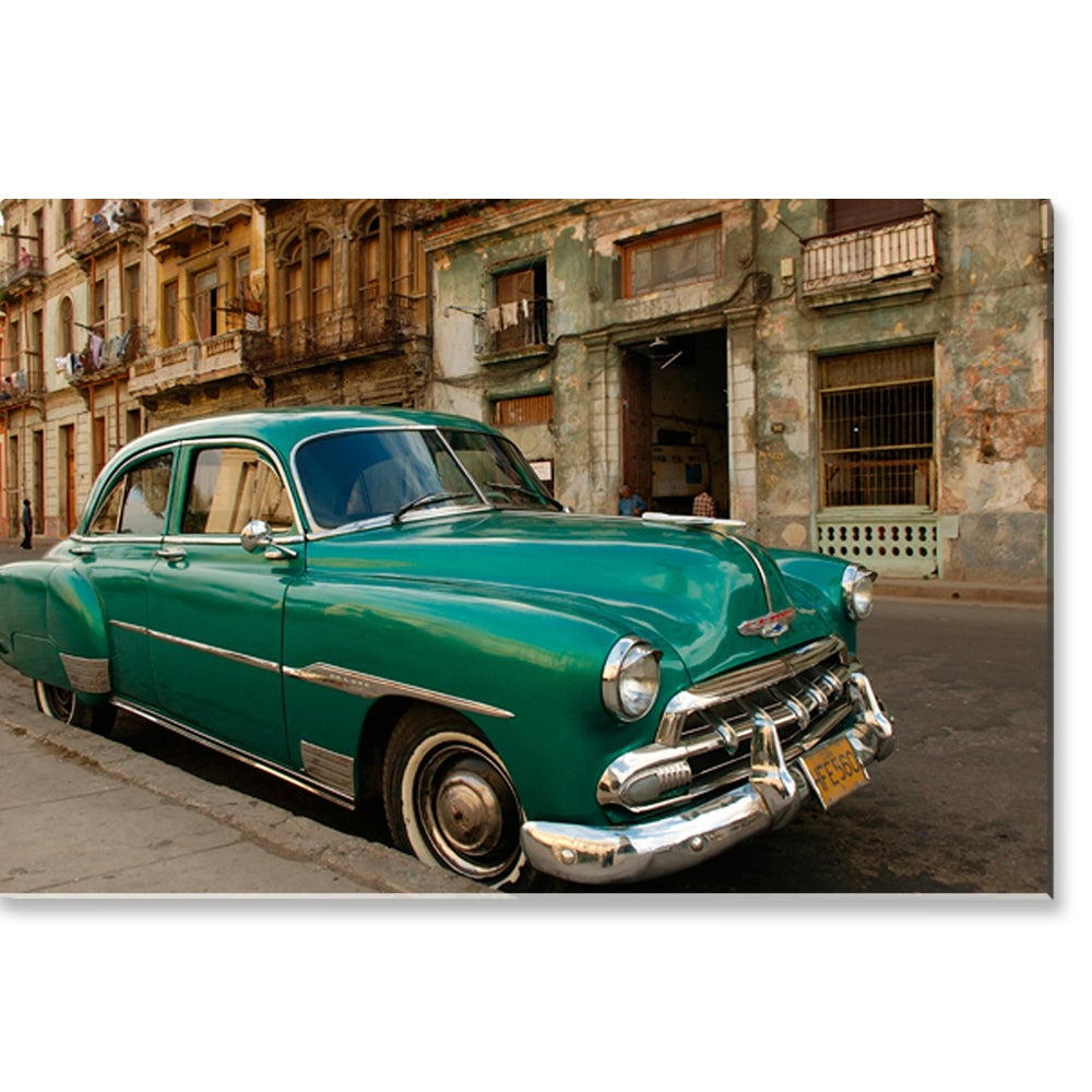 Tablou canvas 80x120 cm GREEN CUBAN CAR
