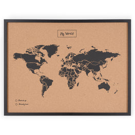 Decoratiune perete MY WORLD BLACK