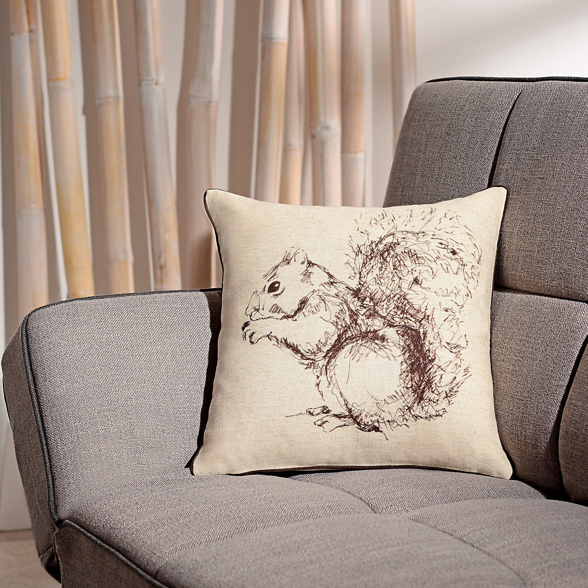 SQUIRREL Perna Decorativa 50x50