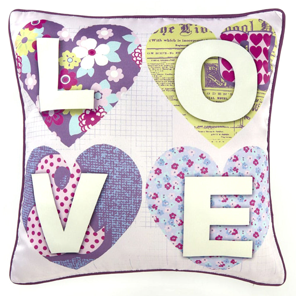 Perna Decorativa 45x45 PATCHWORK HEARTS