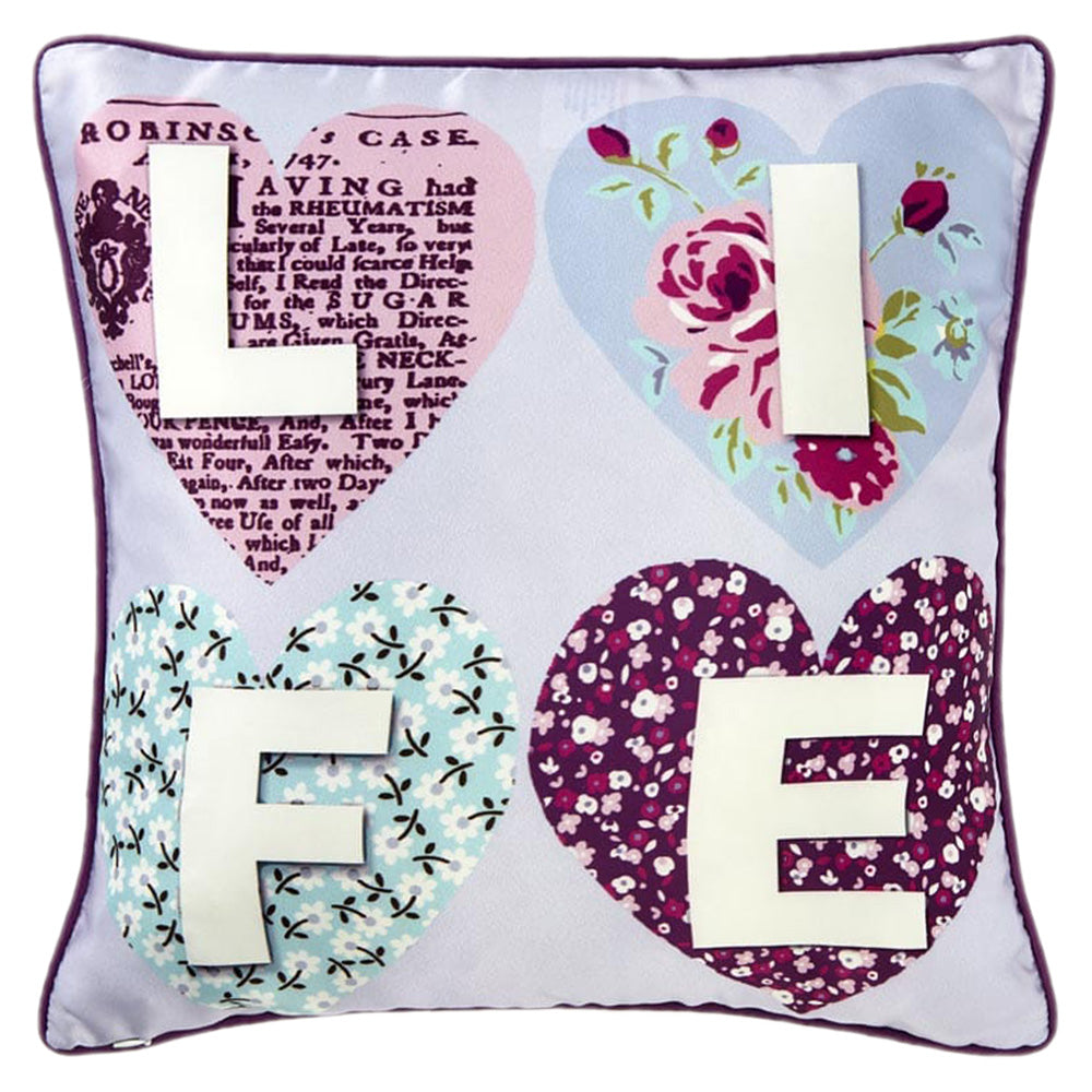 PATCHWORK HEARTS Perna Decorativa 45x45