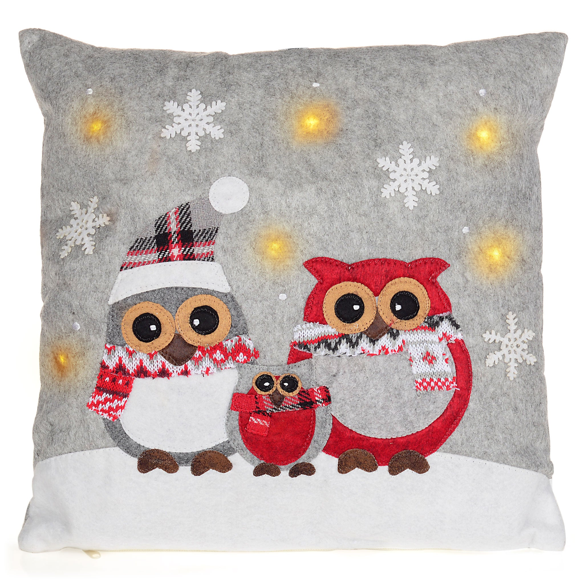 OWLS Perna Decorativa 37x37 cu LED-uri