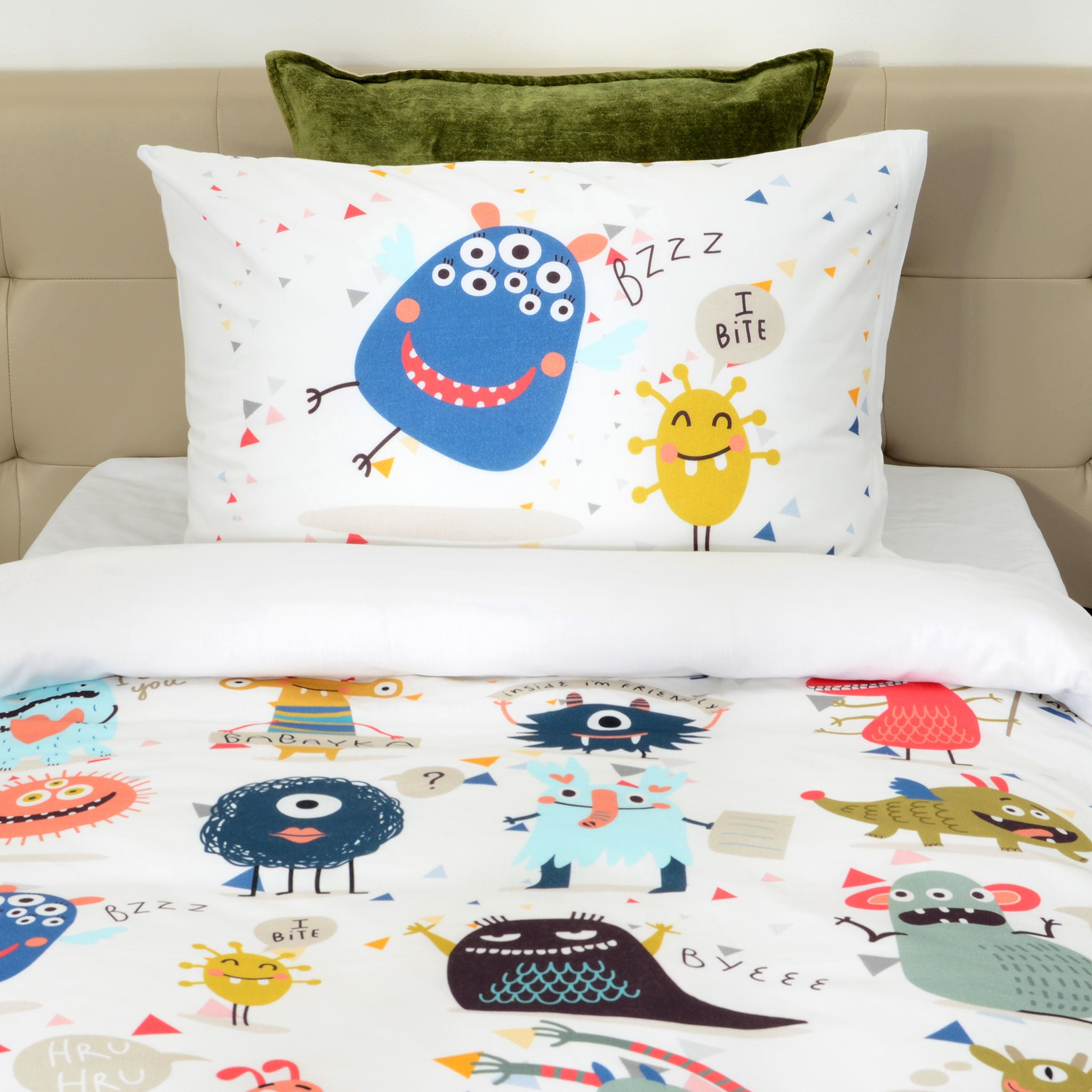 MONSTERS Set asternut 3 piese 140x200cm