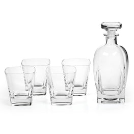DUCALE Set 4 pahare whisky + sticla