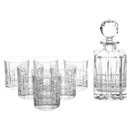 Set decantor si 6 pahare whisky DOVER
