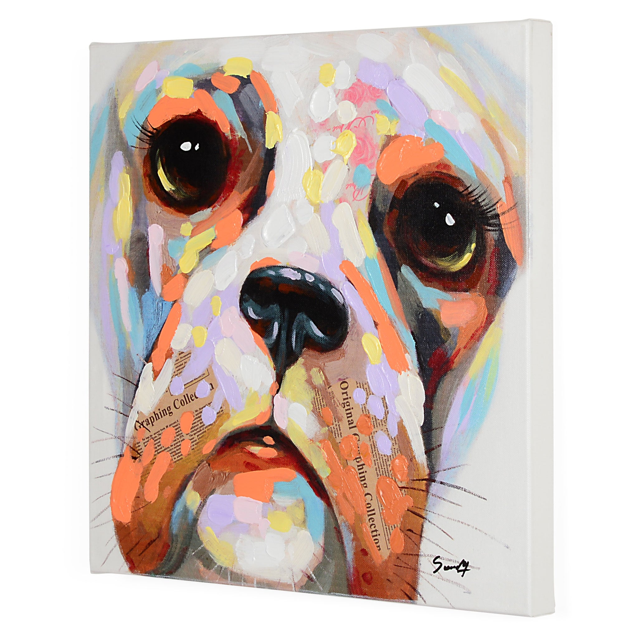 DOGS I Tablou canvas 50x50cm