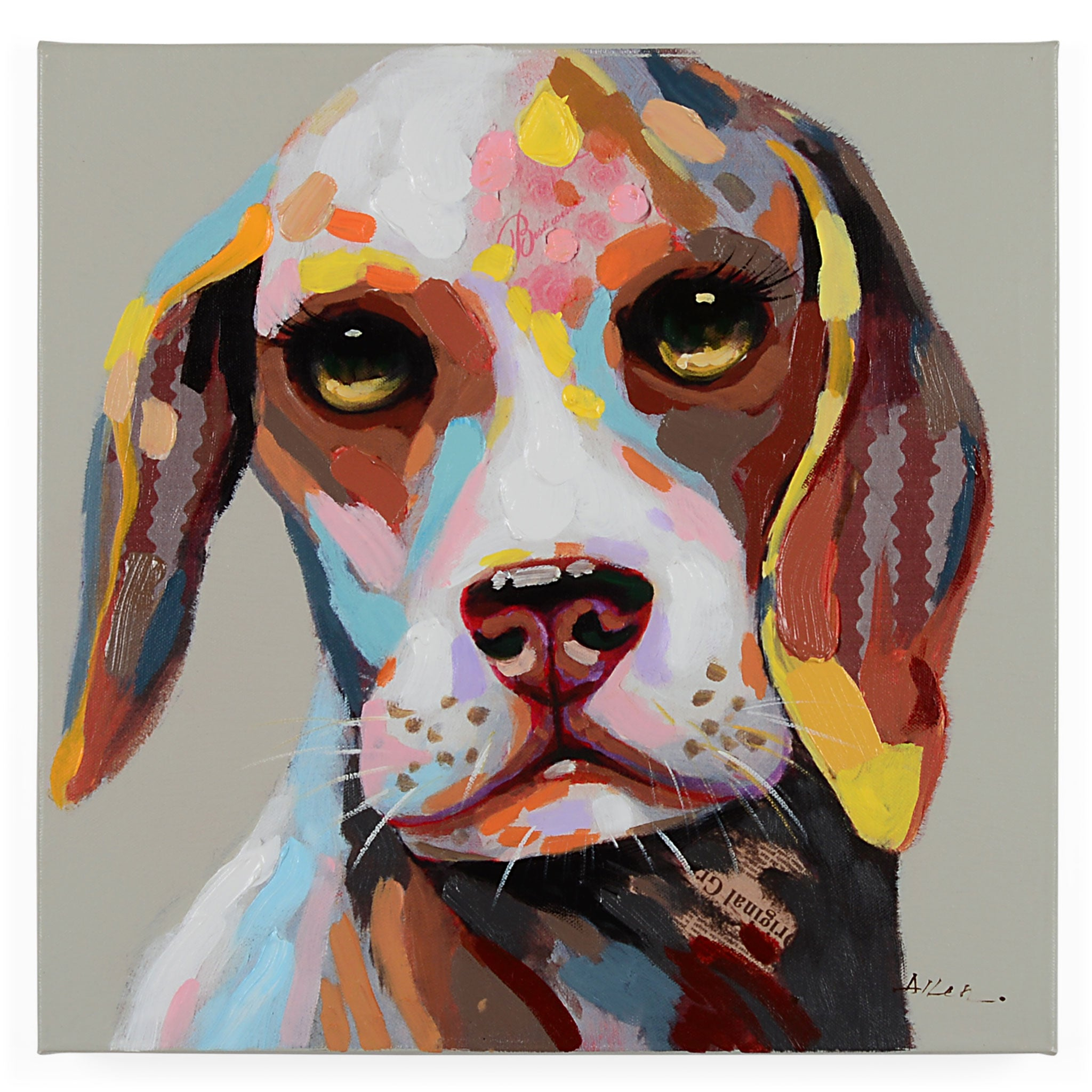 DOGS III Tablou canvas 50x50cm
