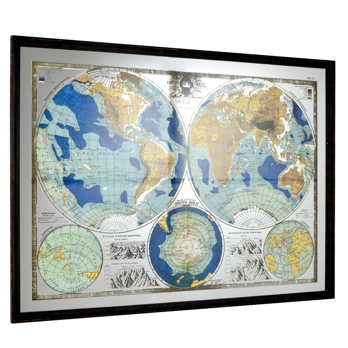 WORLD MAP Tablou 139x101 cm